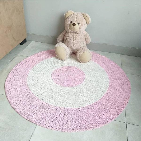 Tapete bebê rosa e bege