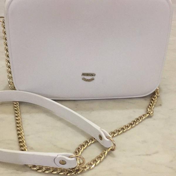Arezzo giorno - bolsa branca dourado