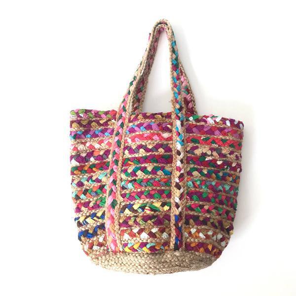 Bolsa artesanal colorida