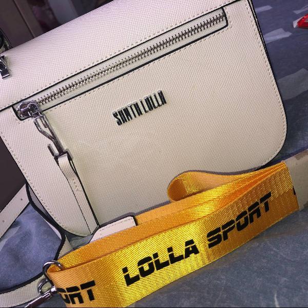 Bolsa branca com duas alças, nova