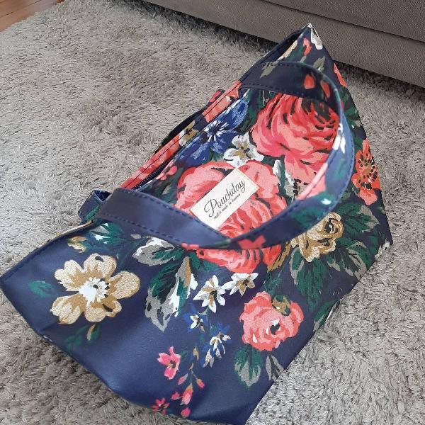 Bolsa florida azul - tamanho pequeno