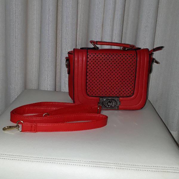 Bolsa pequena vermelha pronta entrega