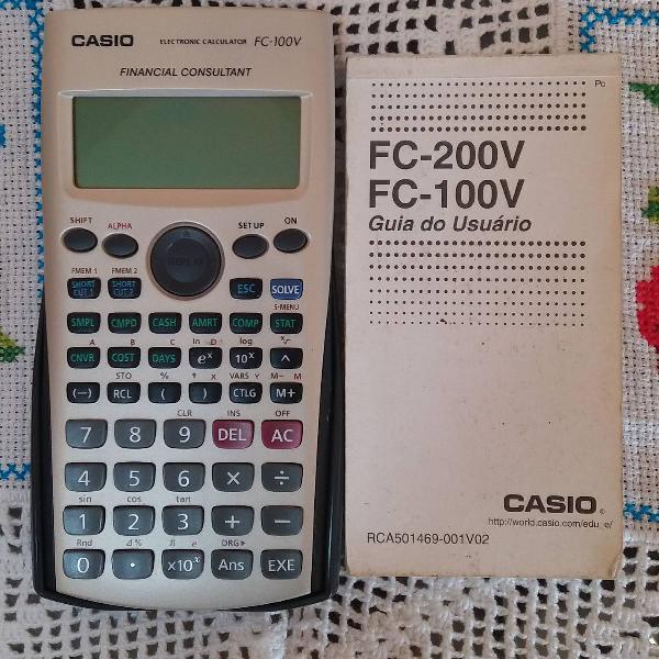 Calculadora financeira casio fc-100v