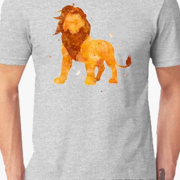 Camisa estampa digital o rei leão filme