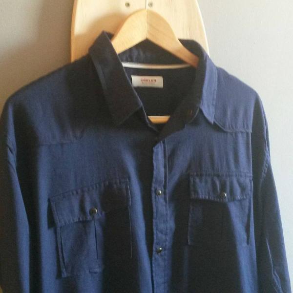 Camisa osklen travel navy blue