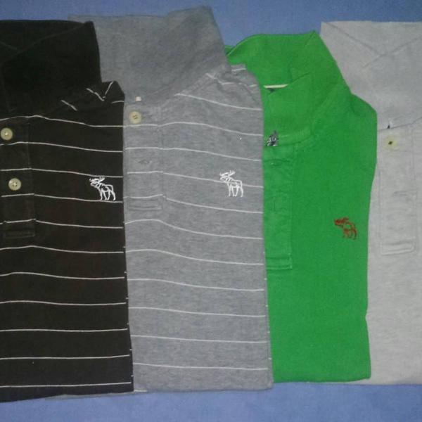 Camisa polo da hollister e abercrombie