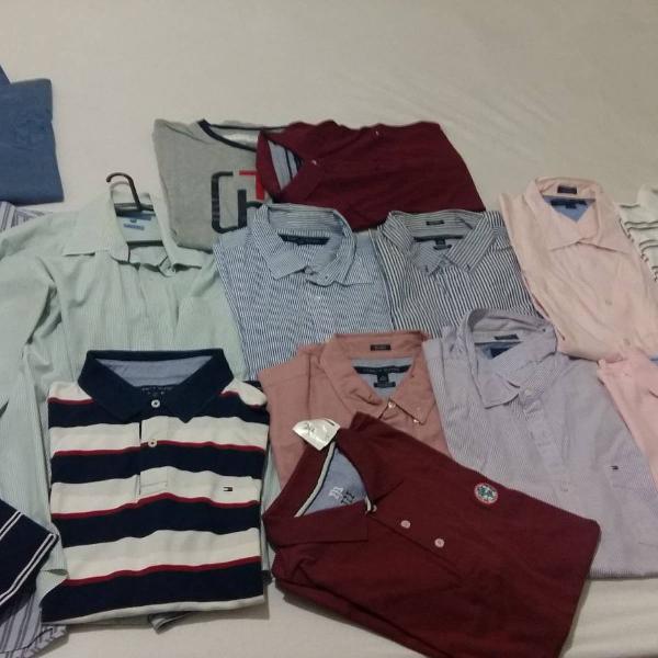 Camisas e camisetas gola polo