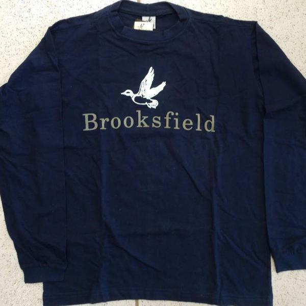 Camiseta brooksfield azul marinho manga longa tam p