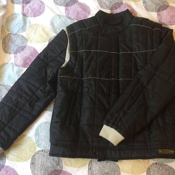 Casaco impermeável de frio masculino tamanho gg cor preto
