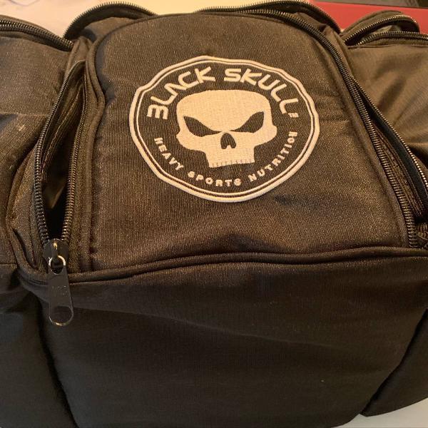 Fit bag - bolsa térmica fitness black skull