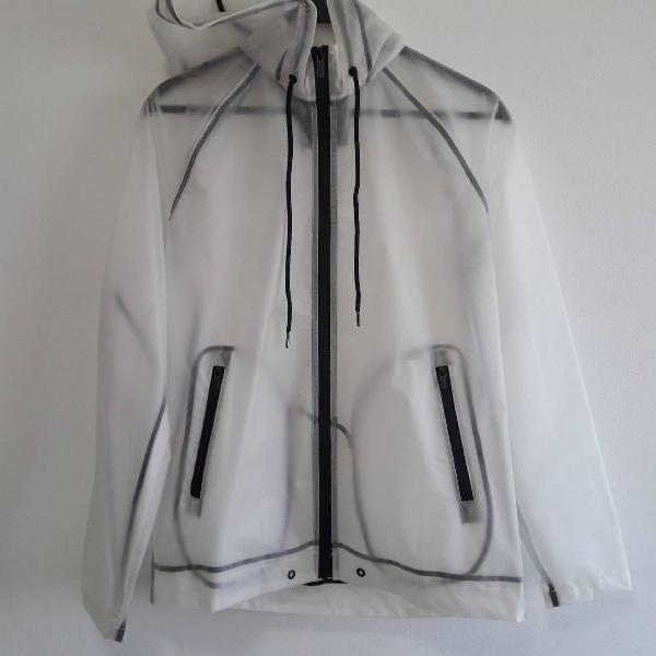 Jaqueta com capuz capa de chuva
