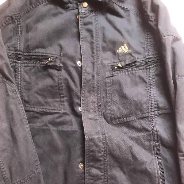 Jaqueta em sarja azul marinho