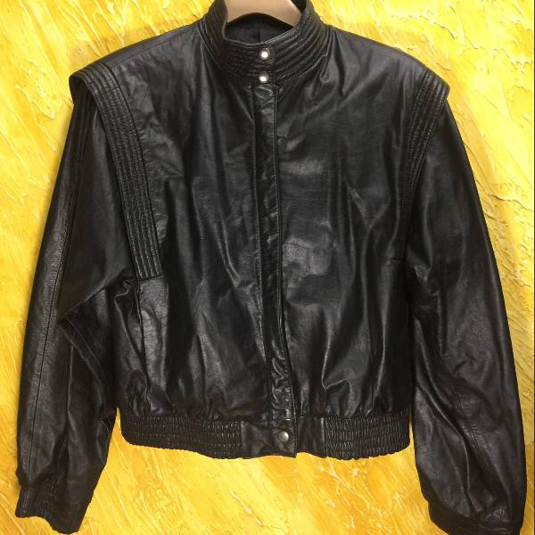 Jaqueta juvenil de couro legítimo , importada - marco