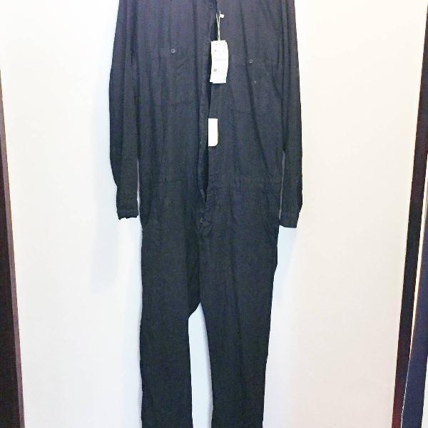 Macacão jeans azul marinho zara man