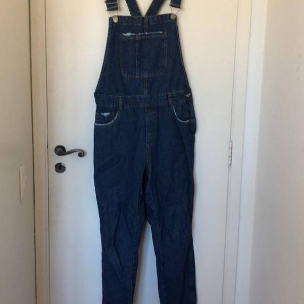 Macacão jeans masculino tamanho m