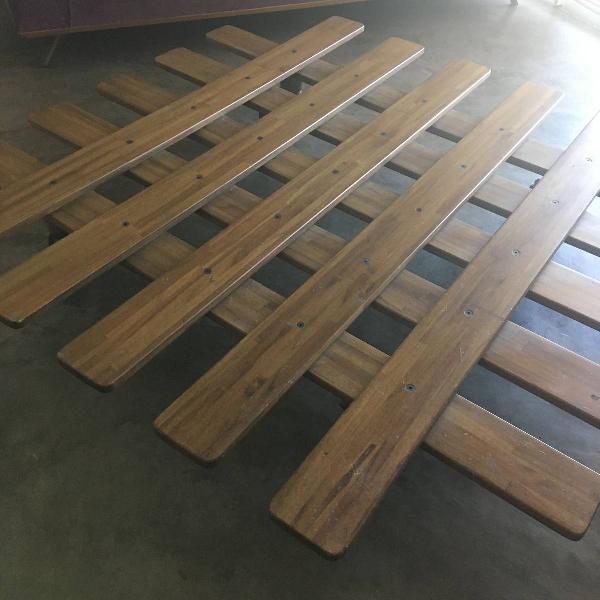 Mesa de centro de madeira dobrável retrátil