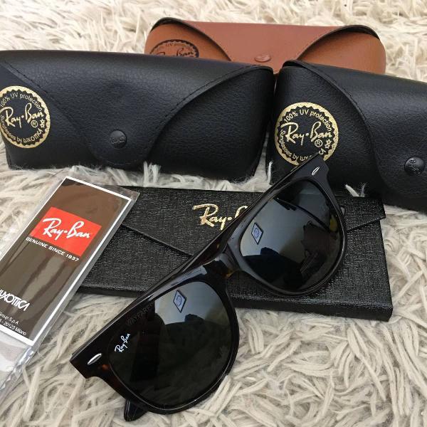 Oculos de sol ray ban wayfarer rb2140 masculino tartaruga