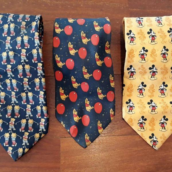 Trio gravatas disney tie rack