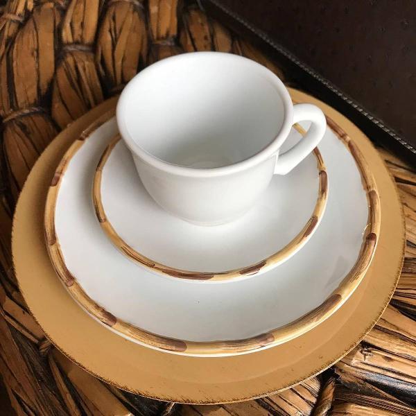 Xícara de chá bambu bambu