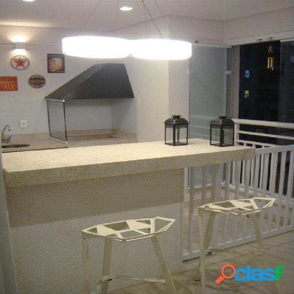 Terraços - decorado por arquiteto - 124m², 3 dorm, suíte e varanda gourmet