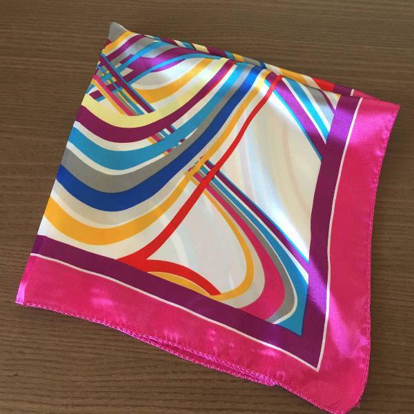 2 lenços - cetim de seda