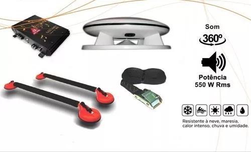 Kit propaganda volante 550w - caixa + amplificador + rack