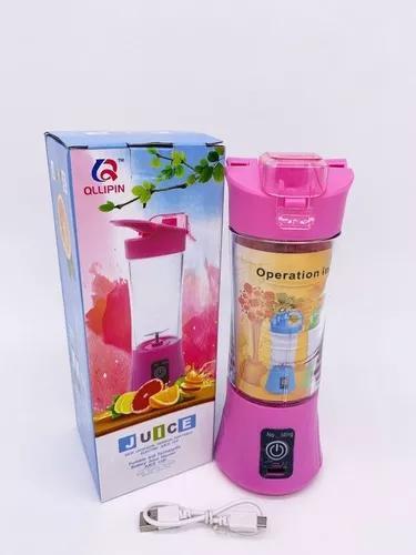Mini liquidificador shake vitaminas usb portátil c/ alça