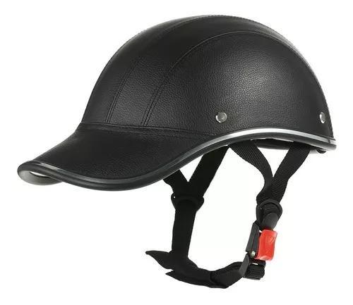 Motorcycle capacete metade rosto beisebol boné estilo com s