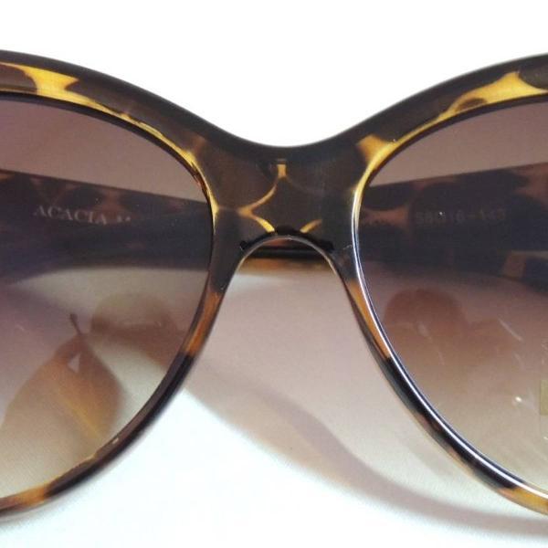 Oculos estilo gatinho de oncinha marrom