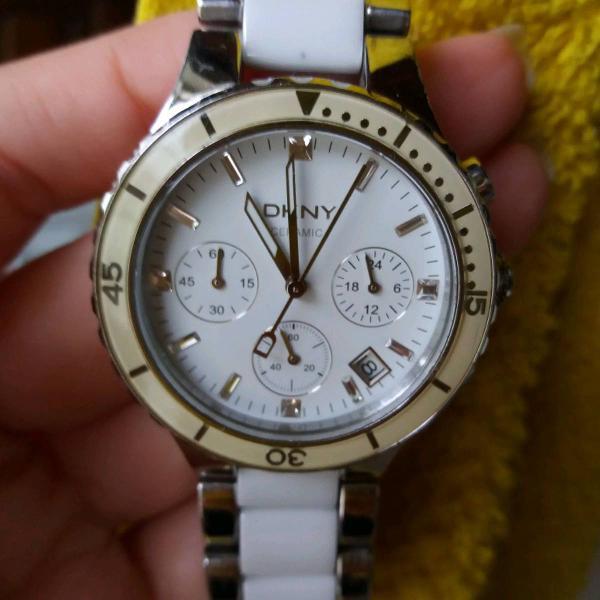 Relógio dkny ceramic feminino