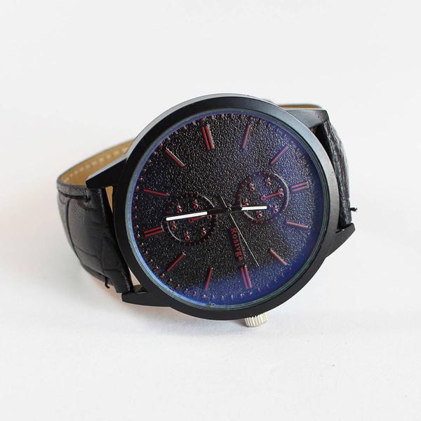 Relógio mostrador cintilante pulseira crocodilo - rosivga