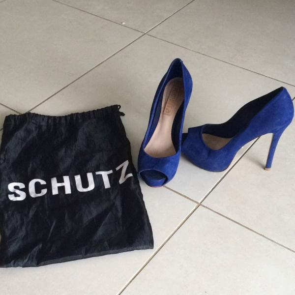 Sapato azul royal