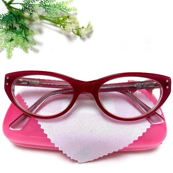 Acetato cat eye de lacinho rosa