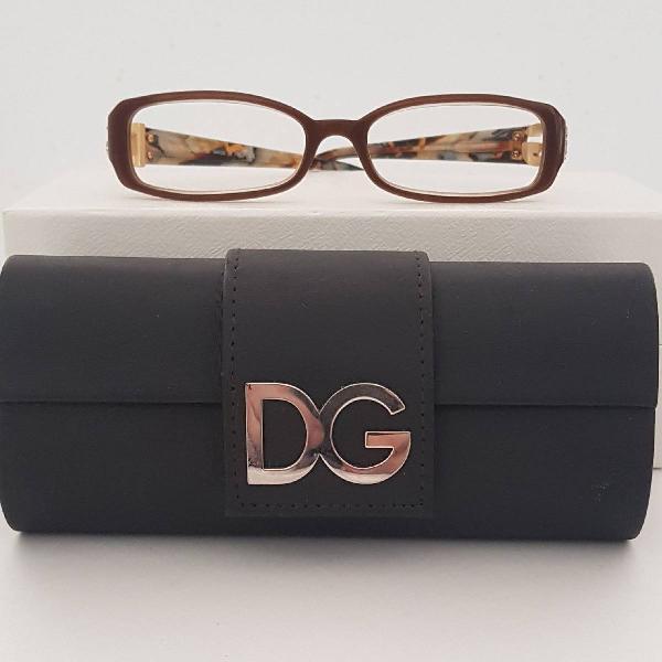 Armacao para óculos de grau dolce e gabana marrom e