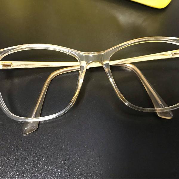 armação de óculos de grau acrílico transparente