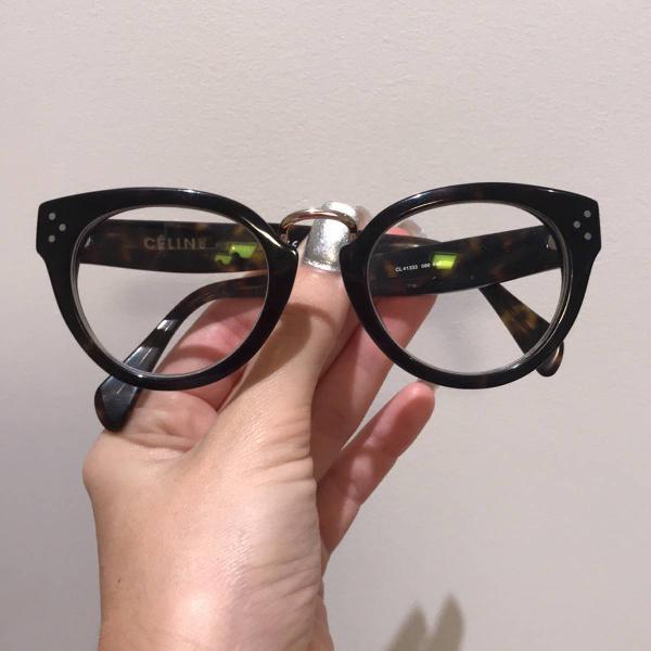 Armação de óculos de grau vintage cool celine
