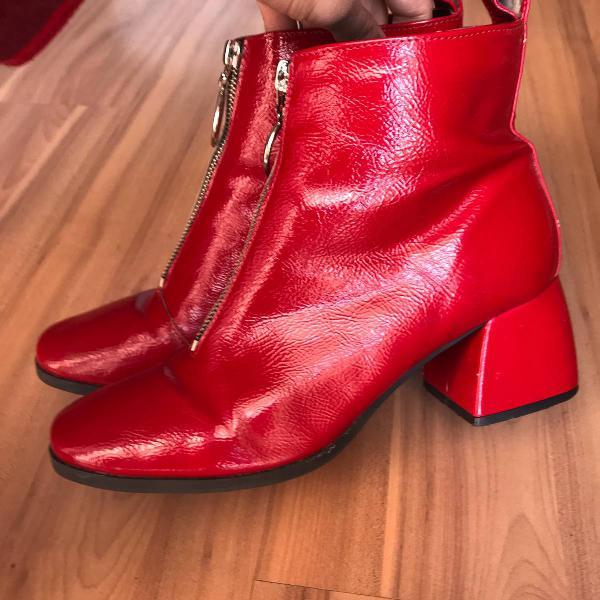 Bota cano medio inbox shoes vermelha