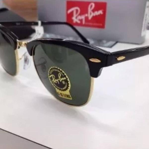 Club master verde da ray ban lente de cristal