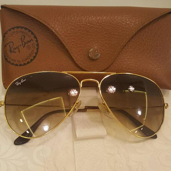 Culos aviador ray ban degrade original rb3025 marrom com