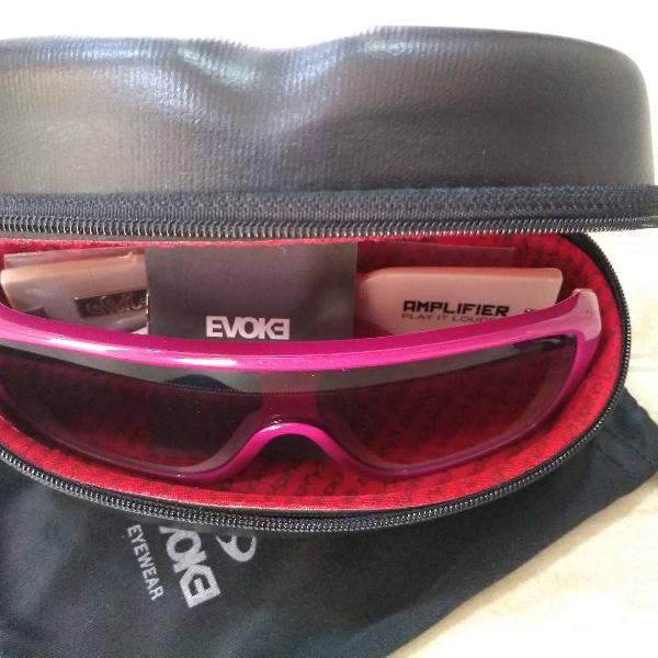 culos de sol evoke amplifier fpk01 rosa (novo sem uso)