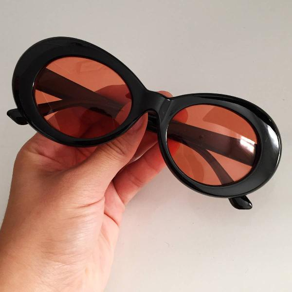Culos de sol grau kurt cobain nirvana preto laranja lente