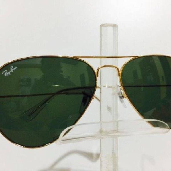 Culos ray ban clássico aviador dourado com verde g15