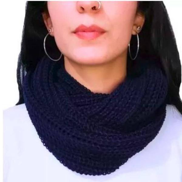 Echarpe em tricot - cachecol - manta - moda feminina outono