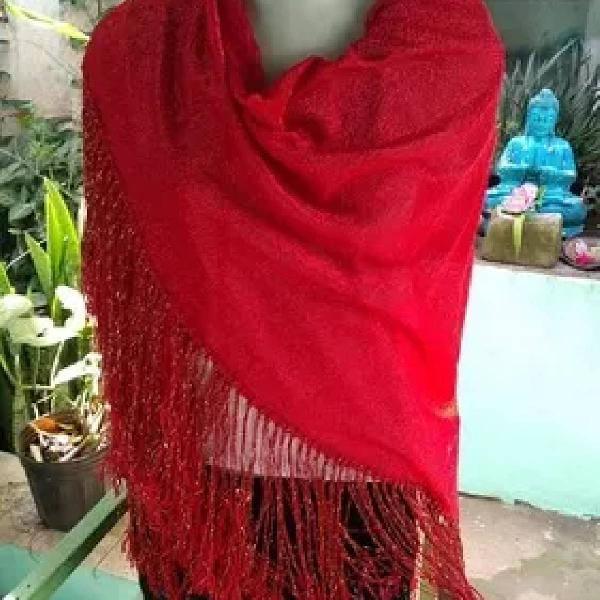 Lindo xale cigano vermelho