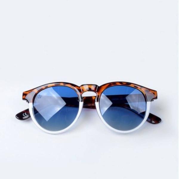 Oculos bicolor lente azul