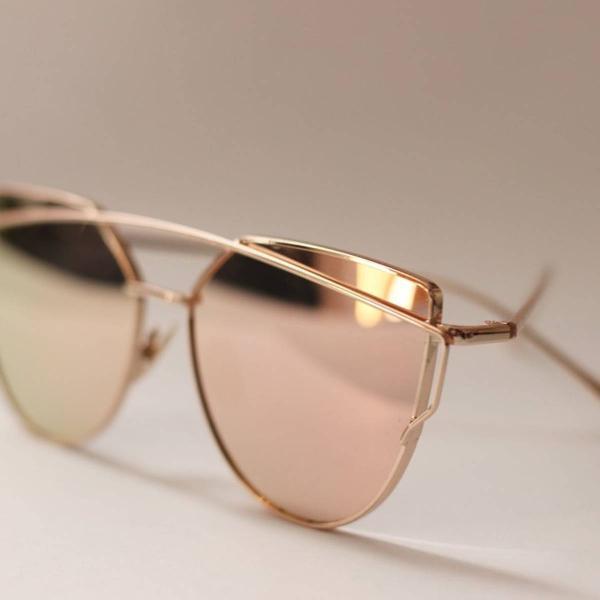 Oculos de sol espelhado rosê