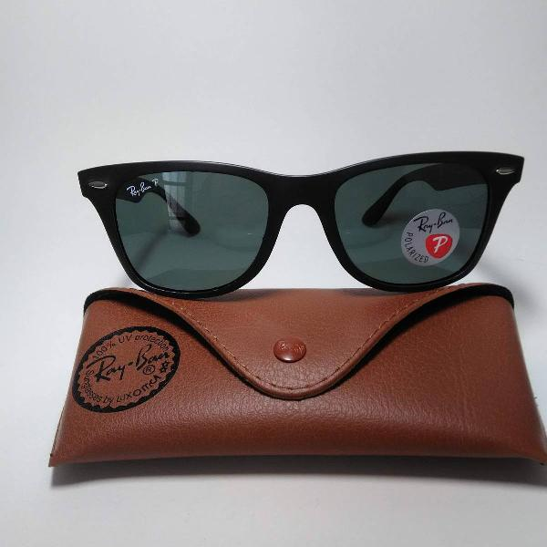 Oculos de sol ray ban rb4195 wayfarer liteforce polarizado