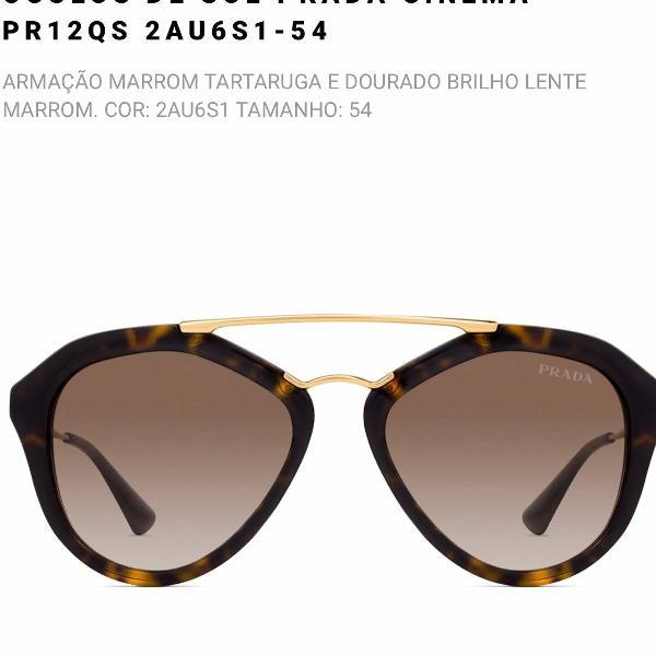 Oculos prada cinema pr12qs tartaruga original
