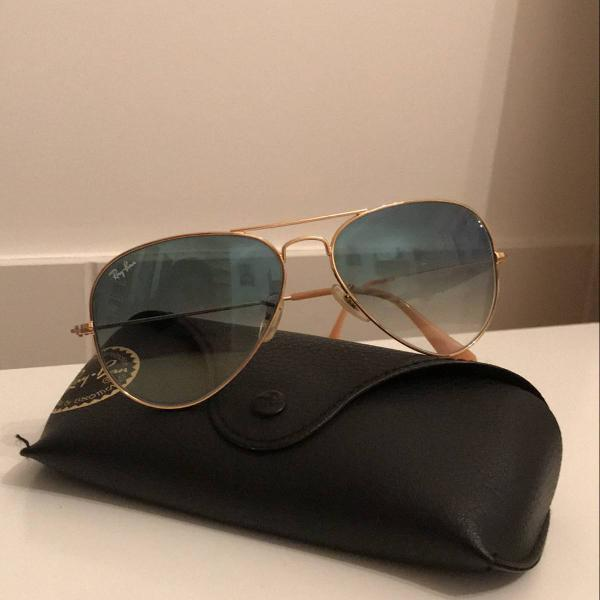 Oculos ray ban degrade azul