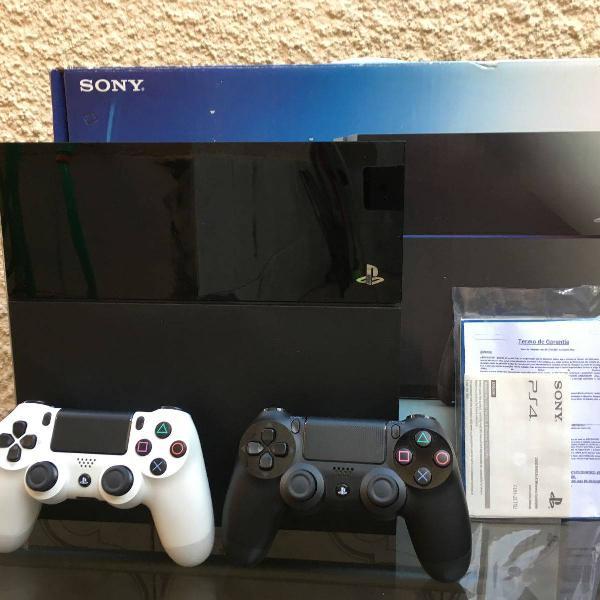 Playstation 4 500gb 02 controles originais